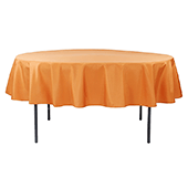 "90"" Round 200 GSM Polyester Tablecloth - Burnt Orange"