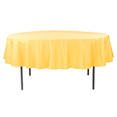 "90"" Round 200 GSM Polyester Tablecloth - Canary Yellow"