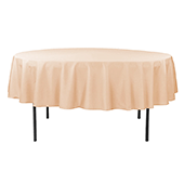 "90"" Round 200 GSM Polyester Tablecloth - Champagne"