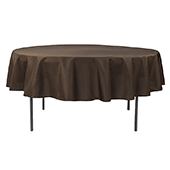 "90"" Round 200 GSM Polyester Tablecloth - Chocolate Brown"
