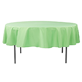 "90"" Round 200 GSM Polyester Tablecloth - Clover"