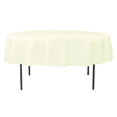 "90"" Round 200 GSM Polyester Tablecloth - Cream"
