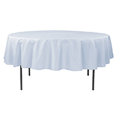 "90"" Round 200 GSM Polyester Tablecloth - Dusty Blue"