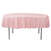 "90"" Round 200 GSM Polyester Tablecloth - Dusty Rose/Mauve"