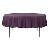 "90"" Round 200 GSM Polyester Tablecloth - Eggplant/Plum"