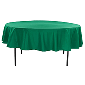 "90"" Round 200 GSM Polyester Tablecloth - Emerald Green"