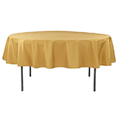 "90"" Round 200 GSM Polyester Tablecloth - Gold"