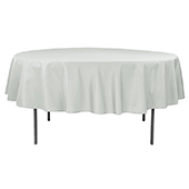 "90"" Round 200 GSM Polyester Tablecloth - Gray/Silver"