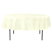 "90"" Round 200 GSM Polyester Tablecloth - Ivory"