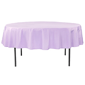 "90"" Round 200 GSM Polyester Tablecloth - Lavender"