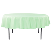 "90"" Round 200 GSM Polyester Tablecloth - Mint Green"