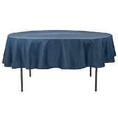 "90"" Round 200 GSM Polyester Tablecloth - Navy Blue"