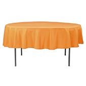"90"" Round 200 GSM Polyester Tablecloth - Orange"