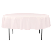 "90"" Round 200 GSM Polyester Tablecloth - Pastel Pink"