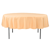 "90"" Round 200 GSM Polyester Tablecloth - Peach"