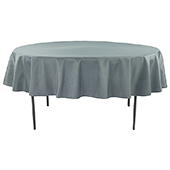 "90"" Round 200 GSM Polyester Tablecloth - Pewter"