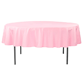 "90"" Round 200 GSM Polyester Tablecloth - Pink"