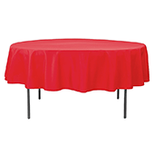 "90"" Round 200 GSM Polyester Tablecloth - Red"