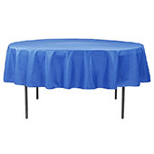 "90"" Round 200 GSM Polyester Tablecloth - Royal Blue"