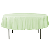 "90"" Round 200 GSM Polyester Tablecloth - Sage Green"