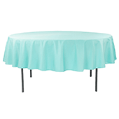"90"" Round 200 GSM Polyester Tablecloth - Turquoise"