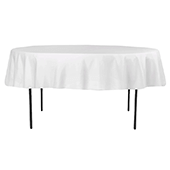 "90"" Round 200 GSM Polyester Tablecloth - White"