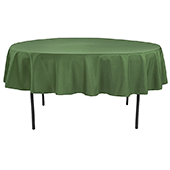 "90"" Round 200 GSM Polyester Tablecloth - Willow Green"