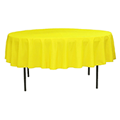 "90"" Round 200 GSM Polyester Tablecloth - Yellow"