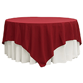 "90"" Square 200 GSM Polyester Tablecloth / Overlay - Apple Red"
