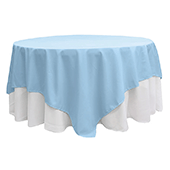 "90"" Square 200 GSM Polyester Tablecloth / Overlay - Baby Blue"