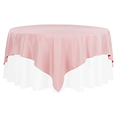"90"" Square 200 GSM Polyester Tablecloth / Overlay - Dusty Rose/Mauve"