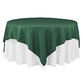 "90"" Square 200 GSM Polyester Tablecloth / Overlay - Emerald Green"