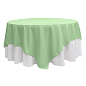 "90"" Square 200 GSM Polyester Tablecloth / Overlay - Mint Green"