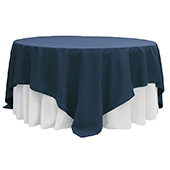 "90"" Square 200 GSM Polyester Tablecloth / Overlay - Navy Blue"