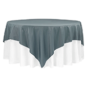 "90"" Square 200 GSM Polyester Tablecloth / Overlay - Pewter"