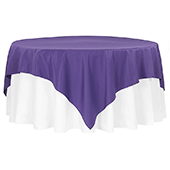 "90"" Square 200 GSM Polyester Tablecloth / Overlay - Purple"