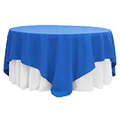 "90"" Square 200 GSM Polyester Tablecloth / Overlay - Royal Blue"