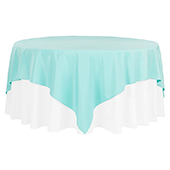 "90"" Square 200 GSM Polyester Tablecloth / Overlay - Turquoise"