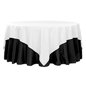 "90"" Square 200 GSM Polyester Tablecloth / Overlay - White"