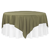 "90"" Square 200 GSM Polyester Tablecloth / Overlay - Willow Green"