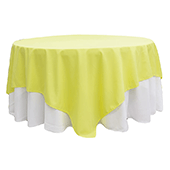 "90"" Square 200 GSM Polyester Tablecloth / Overlay - Yellow"