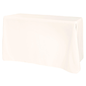 "90"" x 108"" Oblong 200 GSM Polyester Tablecloth - Ivory"
