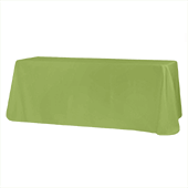 "90"" x 132"" Rectangular Oblong 200 GSM Polyester Tablecloth - Apple Green"
