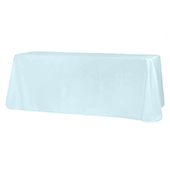 "90"" x 132"" Rectangular 200 GSM Polyester Tablecloth - Baby Blue"