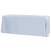 "90"" x 132"" Rectangular 200 GSM Polyester Tablecloth - Dusty Blue"