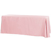 "90"" x 132"" Rectangular Oblong 200 GSM Polyester Tablecloth - Dusty Rose/Mauve"