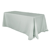 "90"" x 132"" Rectangular Oblong 200 GSM Polyester Tablecloth - Gray/Silver"