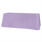 "90"" x 132"" Rectangular 200 GSM Polyester Tablecloth - Lavender"