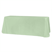"90"" x 132"" Rectangular Oblong 200 GSM Polyester Tablecloth - Mint Green"