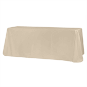 "90"" x 132"" Rectangular Oblong 200 GSM Polyester Tablecloth - Nude"